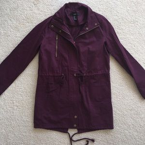 NWOT Purple Utility Coat